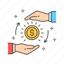 coin, crowdfunding, donation, finance, investment, money icon