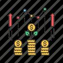 business, crowdfunding, finance, growth, profit icon
