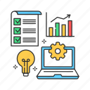 plan, startup, project, business, product, development icon