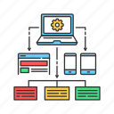 crowdfunding, development, platform, web, website icon