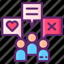 audience, engagement, marketing icon