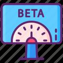 beta, computer, crowdfunding, tester icon