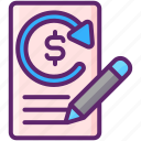 convertible, money, note, transaction icon