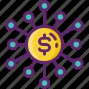 crowdfunding, flexible, funding icon