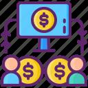 budget, lending, marketing, p2p icon