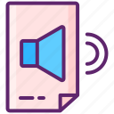 clips, media, play, sound icon