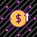 dollar, financial, fundraising, money icon