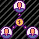 lending, money, p2p, people icon