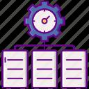 clock, gear, project, timeline