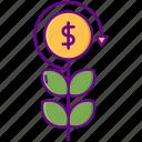 investment, plant, return, roi icon
