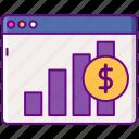 analytics, dollar, graph, revenue