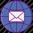 globe, mail, shipping, worldwide