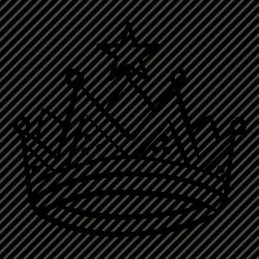 crown, king, prince, princess, queen, royal icon