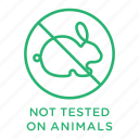 no animal testing, no testing, not tested, not tested on animals icon
