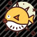 animal, aquatic, arthropods, balloon, fish, ocean, sea