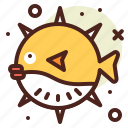 animal, aquatic, arthropods, balloon, fish, ocean, sea icon