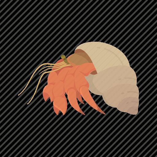 animal, crab, crustacean, hermit crab, invertebrate, sea creature, strawberry hermit crab icon