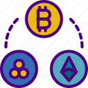 blockchain, crypto, cryptocurrencies, currency, money icon