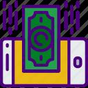 blockchain, crypto, currency, money, receive icon
