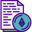 blockchain, certificate, crypto, currency, ethereum, money icon