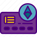 blockchain, card, credit, crypto, currency, money icon