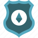 blockchain, crypto, currency, ethereum, money, security icon