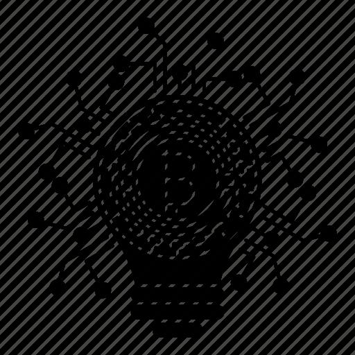 bitcoin, digital, fintech, idea, security icon