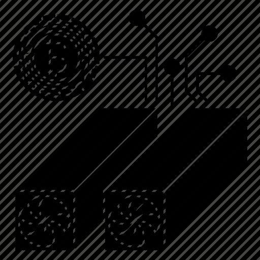 antiminer, computer, digital, modern, network, technology icon