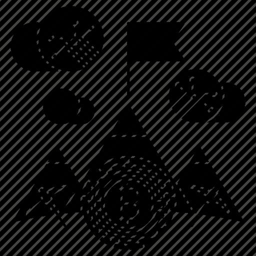 bitcoin, digital, mining icon