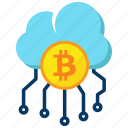 bitcoin, cloud, cryptocurrency, network icon