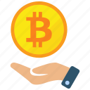 bitcoin, exchange, trade, trading icon