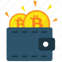 bitcoin, cryptocurrency, wallet icon
