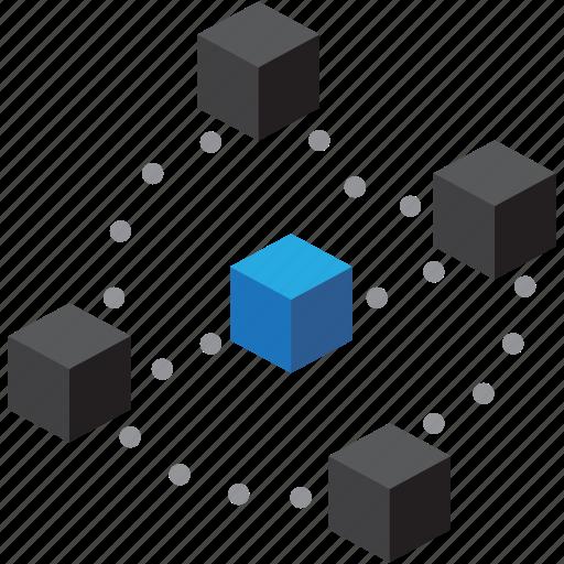 blockchain, cryptocurrency, digital, money icon