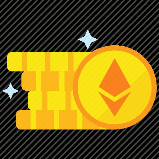 cryptocurrency, digital money, ethereum, mining icon