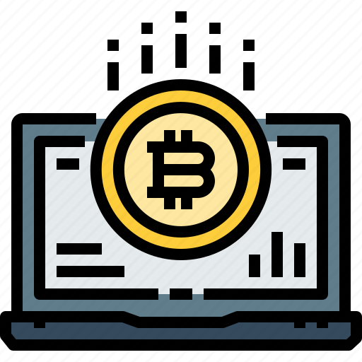 Bitcoin, coin, computer, cryptocurrency, currency, digital, laptop icon - Download on Iconfinder