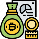 bitcoin, budget, cost, cryptocurrency, currency, digital, finance icon