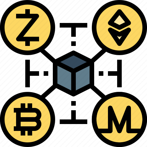bitcoin, blockchain, coin, cryptocurrency, digital, encrypted, ethereum icon