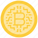 bitcoin, coin, cryptocurrency, currency, digital icon