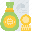 bitcoin, budget, coin, cost, cryptocurrency, currency, digital, finance icon