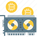 bitcoin, card, coin, cryptocurrency, currency, digital, graphic, video icon