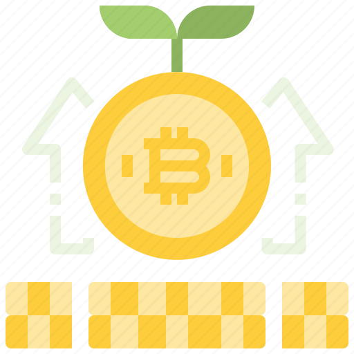 bitcoin, coin, cryptocurrency, currency, digital, growth, money, profit icon