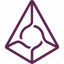 augur, bitcoin, blockchain, coin, crypto, cryptocurrency icon