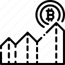 bitcoin, chart, expected, finance, profit icon