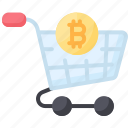bitcoin, buy, cart, cryptocurrency