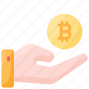 bitcoin, crupto, cryptocurrency, invest, investment, trust icon