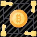 bitcoin, key, multi, network, signature icon