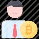bitcoin, coin, nocoiner, sad, user icon