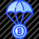 airdrop, bitcoin, currency, digital, money