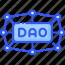 autonomous, crypto, dao, decentralized, organization icon
