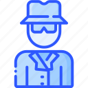 agent, anonymous, person, private, spy icon